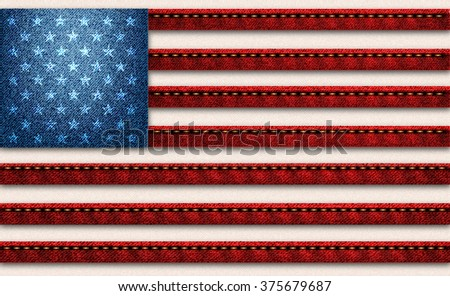 USA jeans flag - stock photo