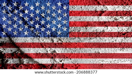 USA map and flag - stock photo