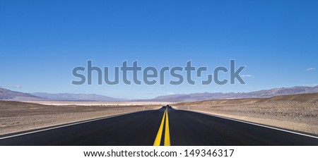 USA, Nevada, Death Valley National Park, Winter, year 2012. - stock photo