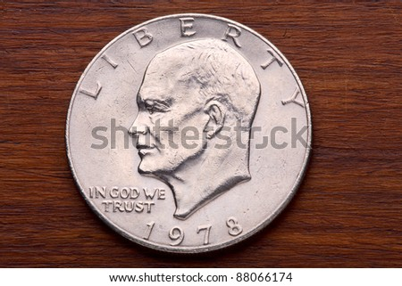USA One Dollar Coin - stock photo
