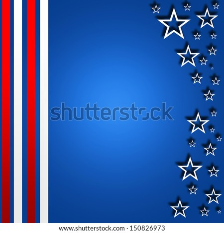 USA style background - stock photo