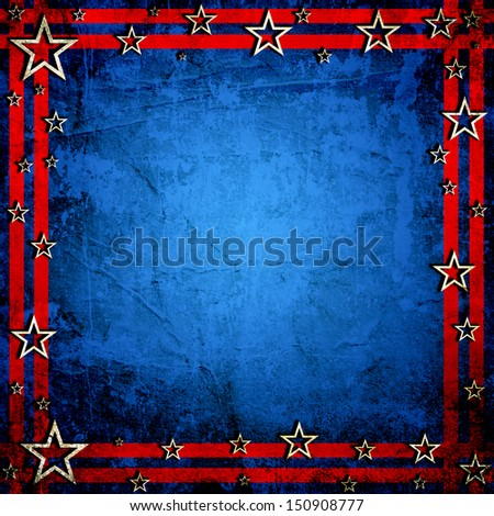 USA style background painted on grunge wall - stock photo