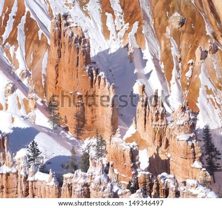 USA, Utah, Zion National Park, Winter, year 2012. - stock photo