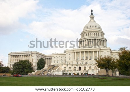 USA, Washington, DC. Capitol - stock photo