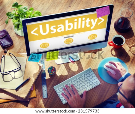 Usability Accesibility Analysing Device Using Concept - stock photo