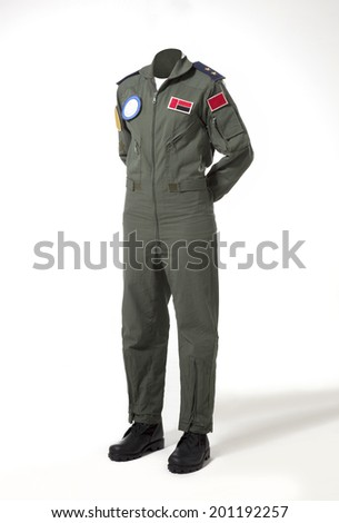 Usable fighter pilot's body without head - stock photo