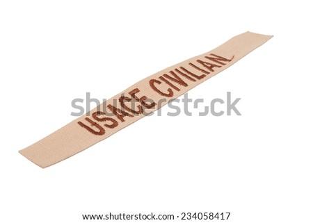 usace civilian uniform badge isolated on white background - stock photo