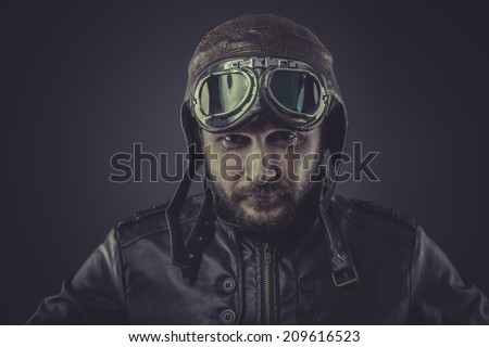 Driving Caps Leather Leather Cap And Goggles