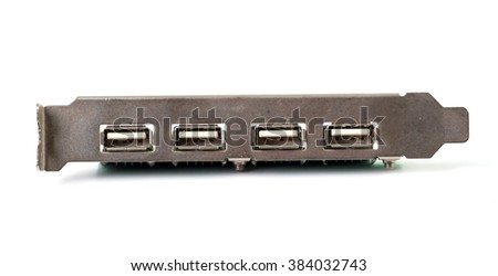 USB computer card - stock photo