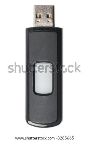 usb memory stick isolated on a white - stock photo