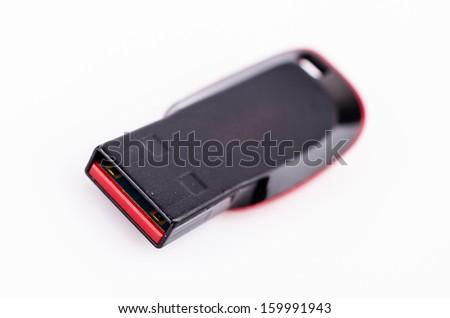 USB on white background - stock photo