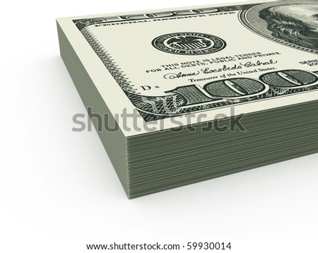 USD stack close up - stock photo