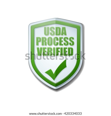USDA Process Verified shield sign - stock photo