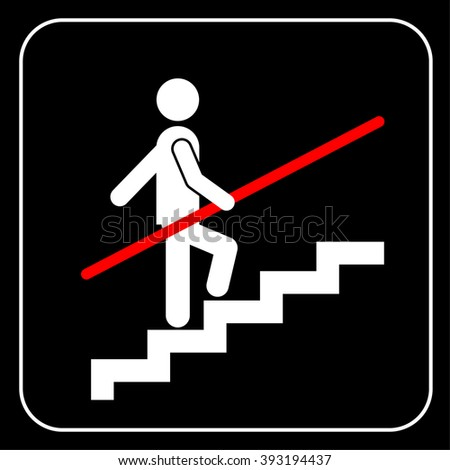 Use Handrail sign - stock photo