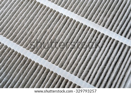 Used air conditioner filter isolated on white background - stock photo