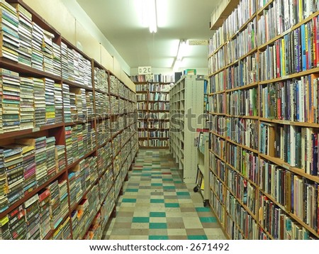 Used Bookstore - stock photo