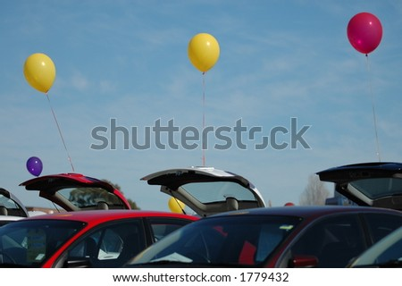 used car sales - stock photo