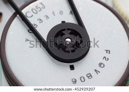 Used metal ball bearing, isolated. - stock photo