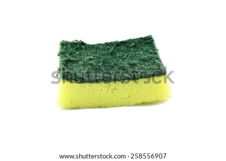 Used sponge. - stock photo