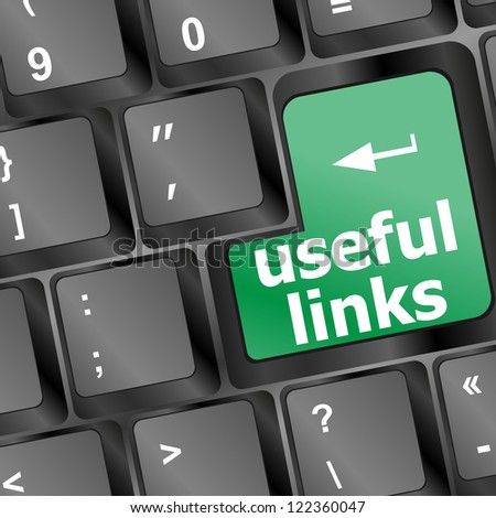 useful links keyboard button - business concept, raster - stock photo