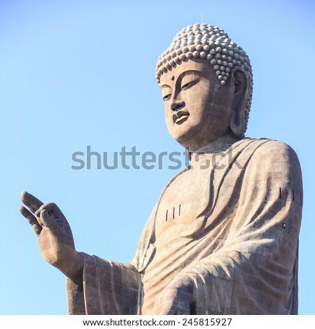Ushiku Daibutsu, Standing buddha tallest in the world in Japan - stock photo