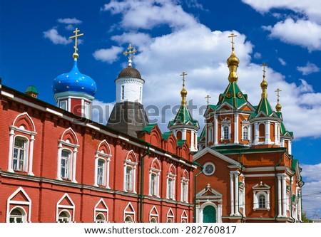 Uspensky Brusensky monastery in the Kolomna Kremlin - Russia - Moscow region - stock photo