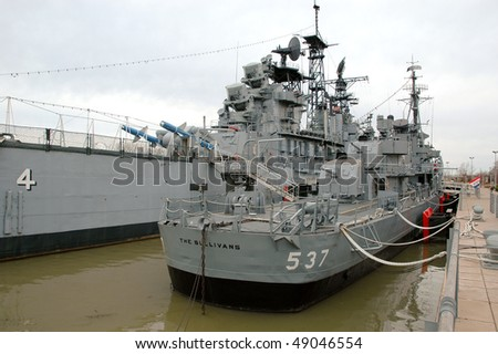 USS The Sullivans - stock photo