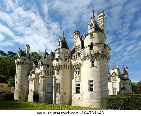 Usse Castle, Loire Valley, France --also known as Sleeping Beauty's Castle - stock photo