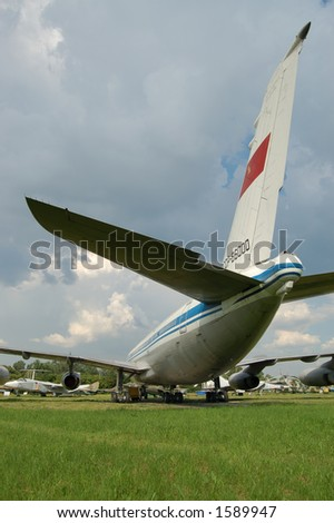 ussr airplane tail - stock photo