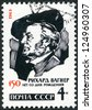USSR - CIRCA 1963 : A stamp printed in USSR shows Richard Wagner (1813-1883), German composers, 150th birth anniversary, circa 1963 - stock photo