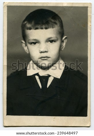 USSR - CIRCA 1960s: Antique photo shows Little Octobrist, USSR, 1960s - stock photo
