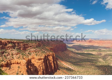 UT-Canyonlands National Park-Maze District. The 4 wheel drive roads in this area take visitors to the most scenic vistas imaginable. - stock photo