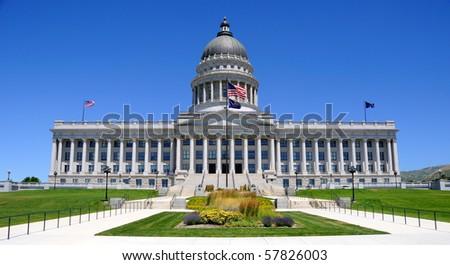 Utah State Capitol Building in Salt Lake City - stock photo