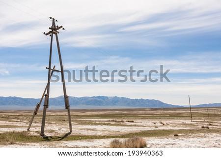 utility poles - stock photo