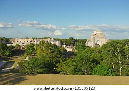 Uxmal Mayan city, Yucatan, Mexico - stock photo
