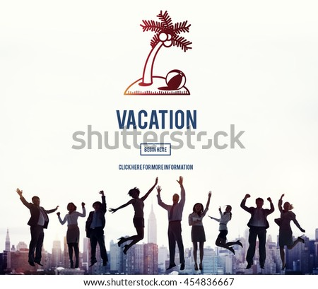 Vacation Holiday Relaxation Journey Travel Break Concept - stock photo
