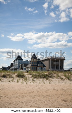 Vacation home close  the beach - stock photo