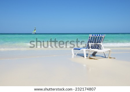 Vacation on a beach - stock photo