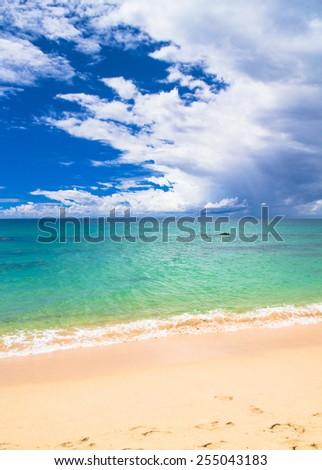 Vacation Wallpaper Sunshine Surf  - stock photo