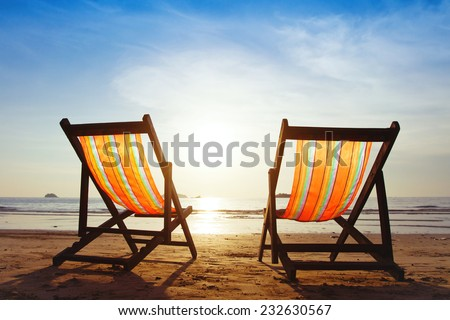 vacations at the seaside, background - stock photo