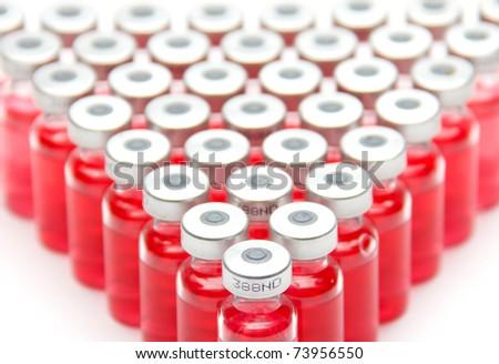 vaccine bottles - stock photo