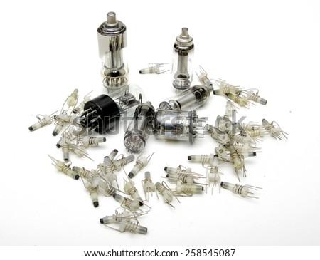 vacuum electron tube - stock photo