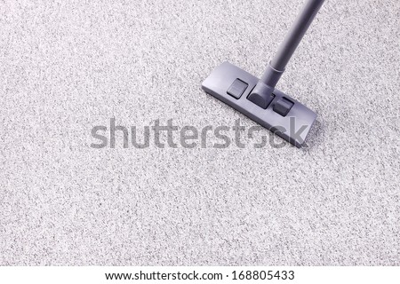 Vacuuming flor - stock photo