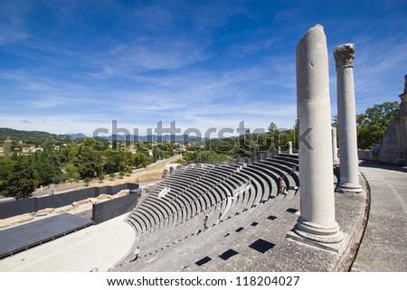 Vaison-la-Romaine - Roman Theatre - stock photo