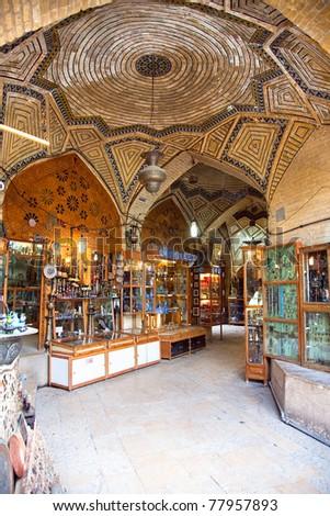 Vakili bazaar-The oldest shopping mall in Shiraz, Iran - stock photo