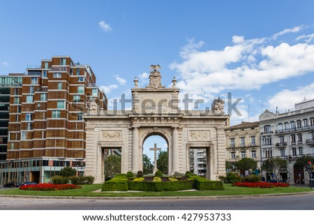 VALENCIA, SPAIN - MAY 14, 2016: Views of the different buildings and streets of the city of Valencia, Spain, May 14, 2016 in Valencia, Spain - stock photo
