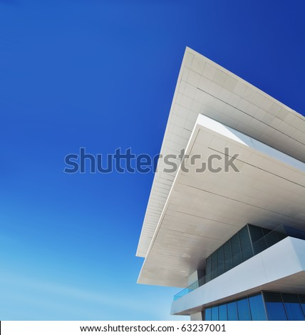 VALENCIA, SPAIN - SEPTEMBER 25: Velse Vents building in the Valencia port. Home of the 33rd America's Cup sailing event (February 8, 2010). on September 25, 2010 in Valencia, Spain. - stock photo