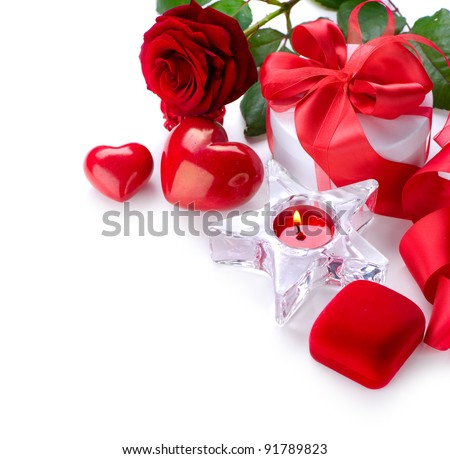 Candle red roses stock photos images amp pictures shutterstock