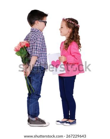 valentine couple - stock photo