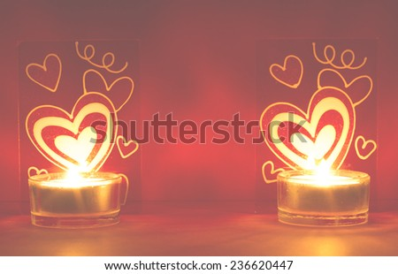 Valentine day card composition - stock photo